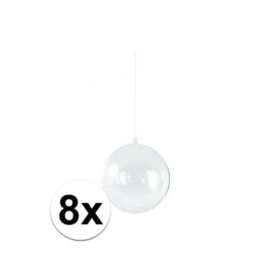 8x stuks Kerstballen om te vullen 14 cm