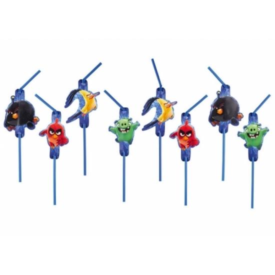 Angry Birds drinkrietjes 8 stuks