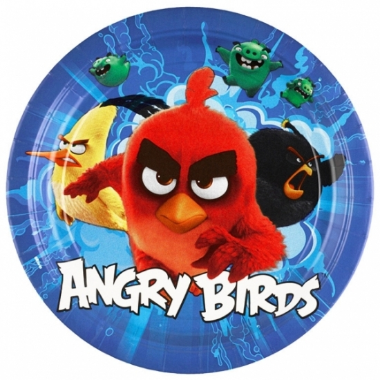 Angry birds wegwerpbordjes 8 st