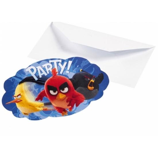 Angy Birds feest uitnodigingen 8 stuks
