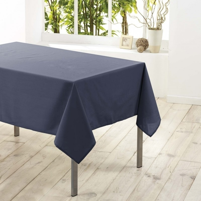 Antraciet grijze tafelkleden/tafellakens 140 x 250 cm rechthoekig van stof