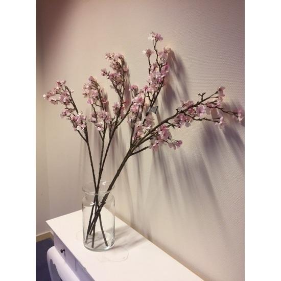 Appelbloesem decoratie takken 104 cm met vaas