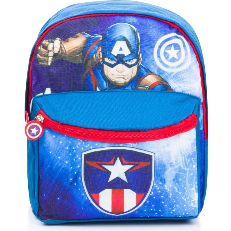 Avengers school rugzak blauw voor kinderen 29 x 24 x 10 cm