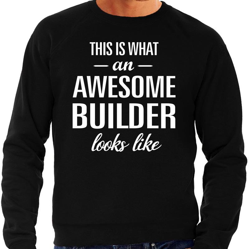 Awesome Builder-bouwvakker cadeau sweater zwart voor heren