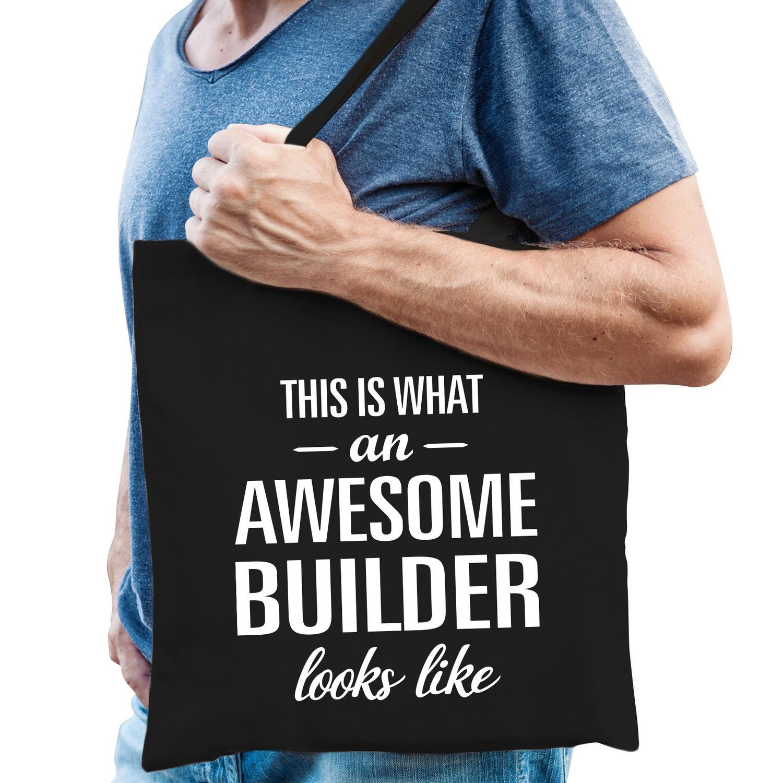 Awesome builder cadeau tas zwart voor heren