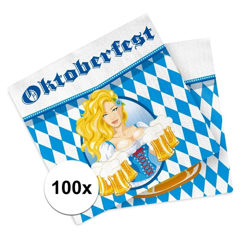 Bierfeest-Oktoberfest servetten 100 stuks