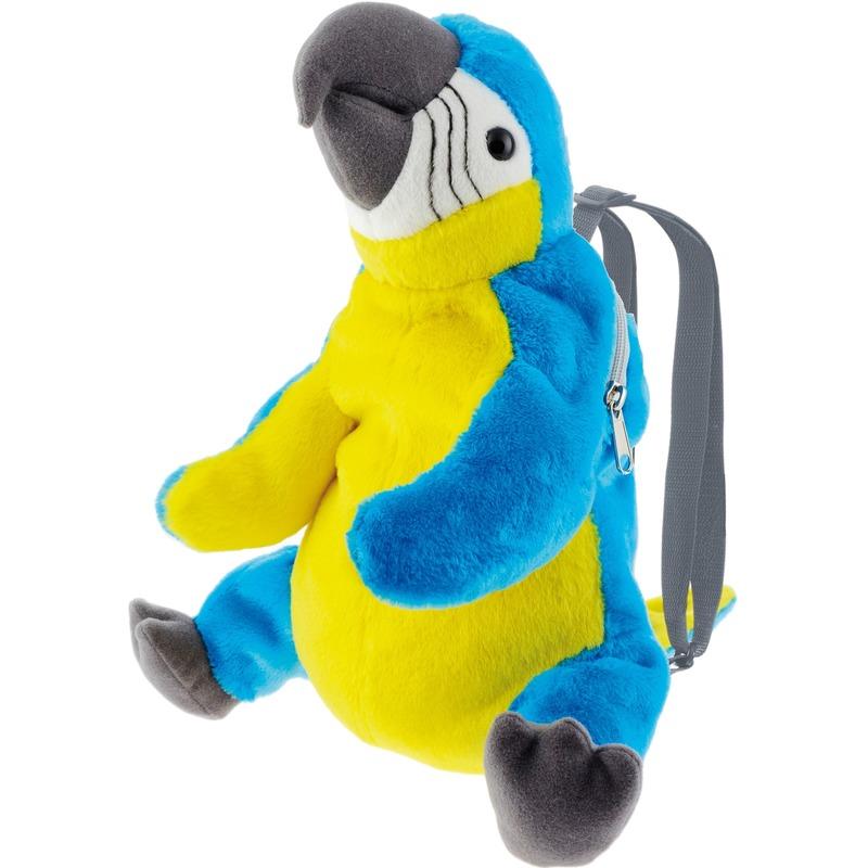Blauwe ara papegaai vogel rugzak-rugtas knuffels 32 cm knuffeldieren