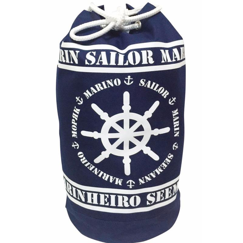 Blauwe duffel rugzak Marinheiro 54 cm