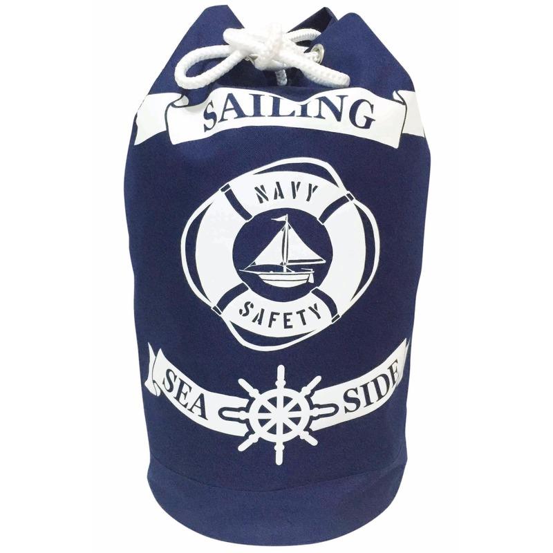 Blauwe duffel rugzak Sailing 54 cm