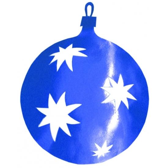 Blauwe kerstballen hangdecoratie 40 cm