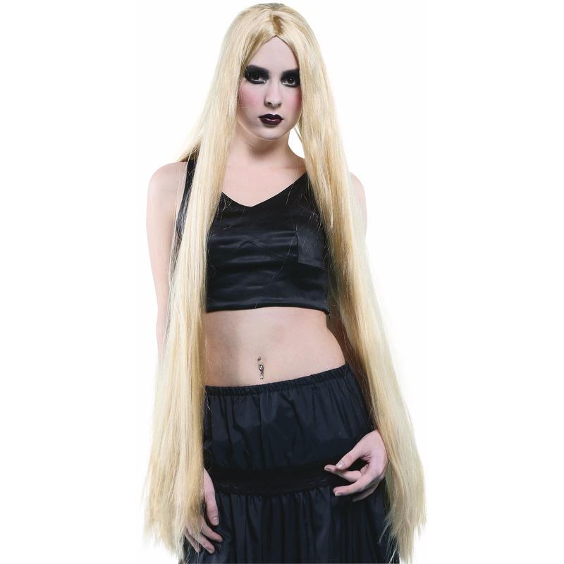 Blonde Pruik 1 Meter Lang