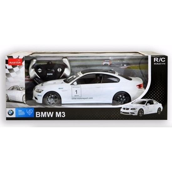 BMW M3 wit radiografisch bestuurbaar 1:14