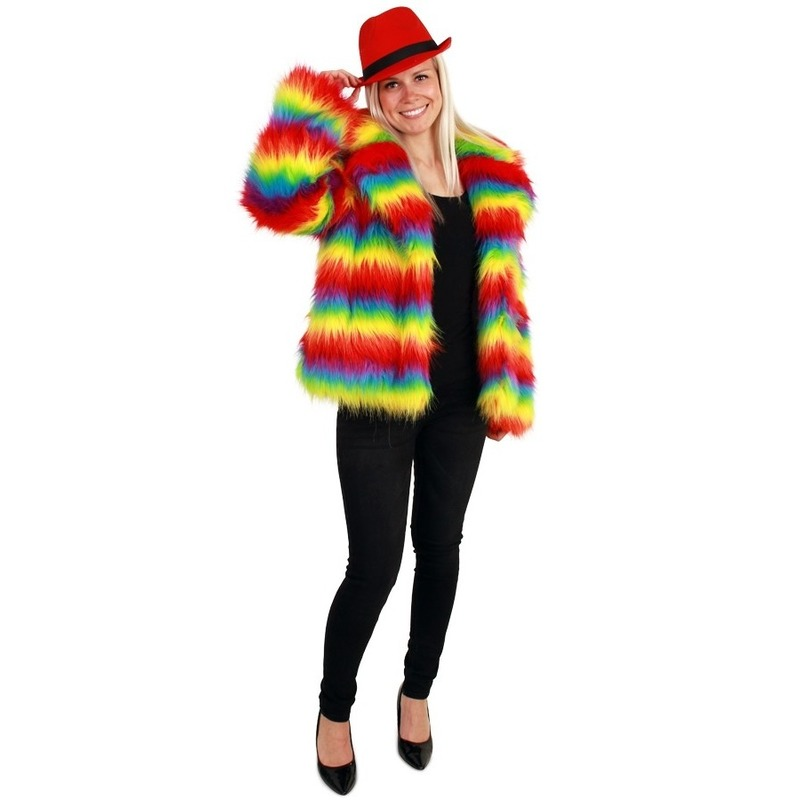 Bontjas gekleurde strepen voor dames
