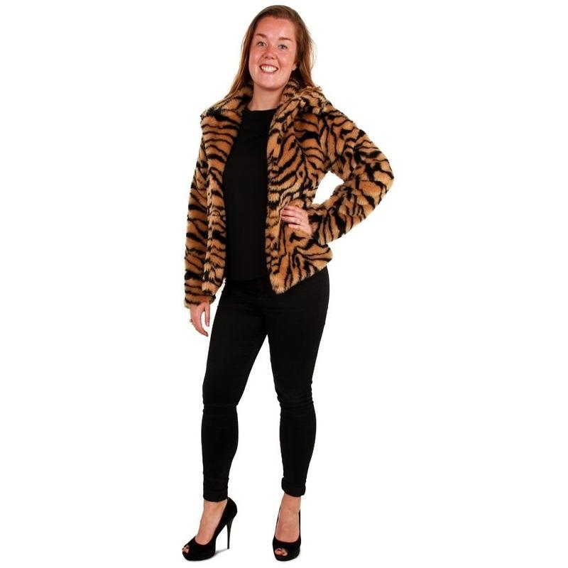 Bontjas tijgerprint voor dames