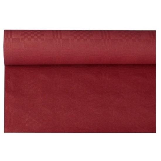 Bordeauxrode thema versiering papieren tafelkleed 800 x 118 cm