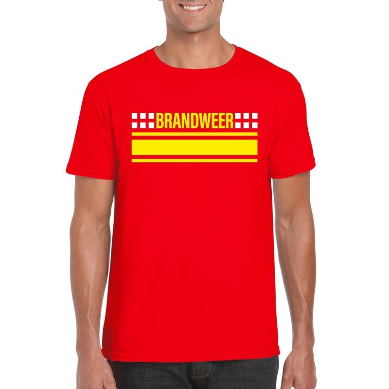 Brandweerman shirt rood voor heren