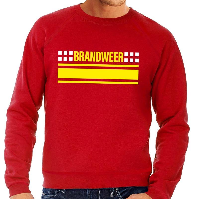 Brandweerman sweater-trui rood voor heren