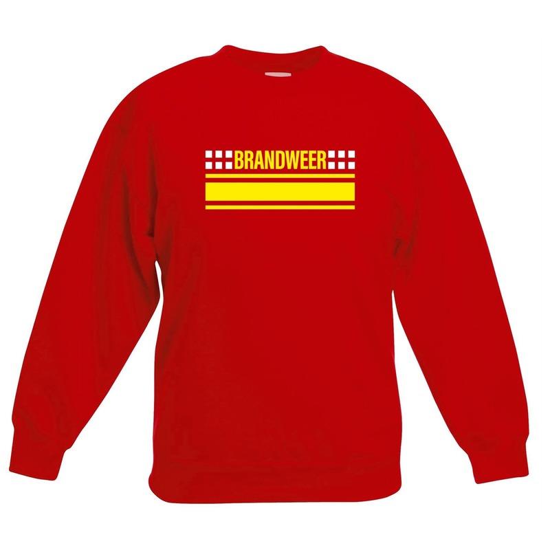 Brandweerman sweater-trui rood voor kinderen