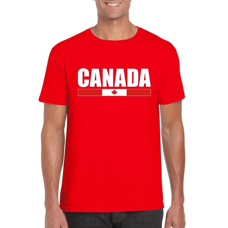 Canadese supporter t-shirt rood voor heren