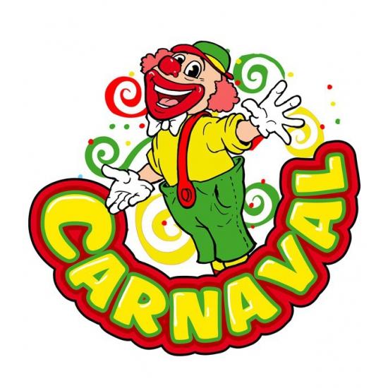 Carnaval Wanddecoratie Clown 35 X 40 Cm