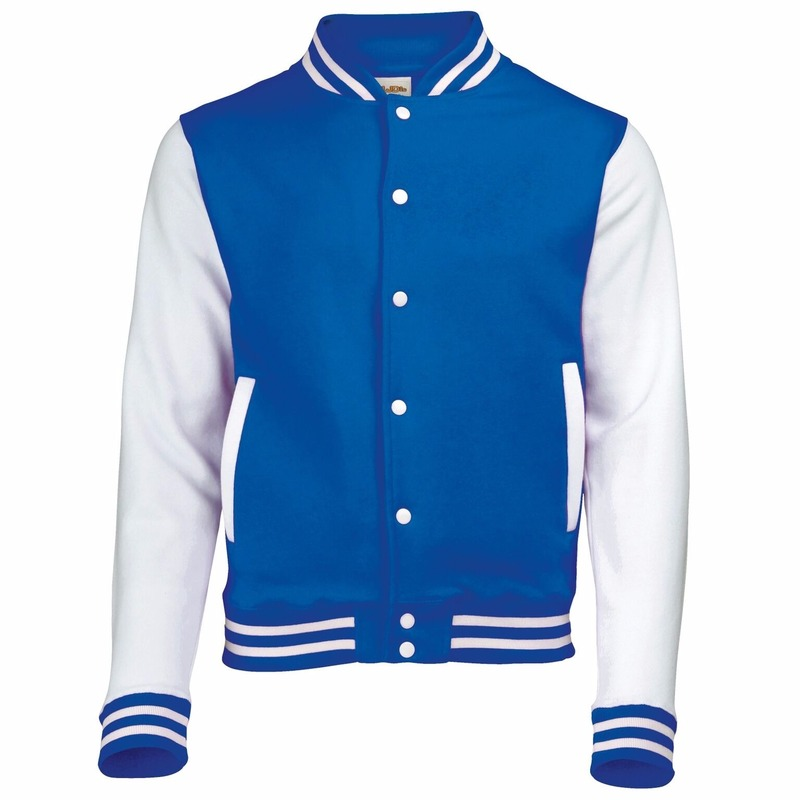 College jacket/vest blauw/wit voor heren