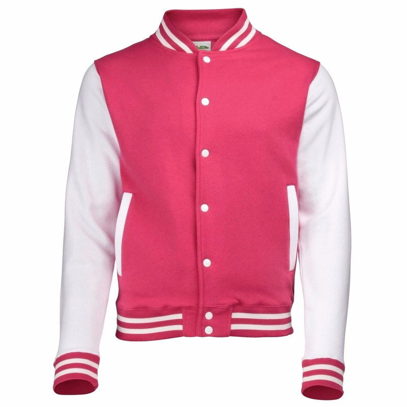 College jacket/vest roze/wit voor dames