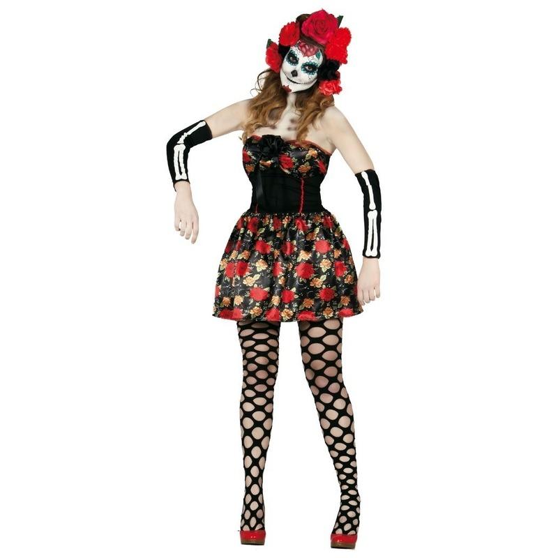 Day of the Dead Halloween verkleed jurkje voor dames