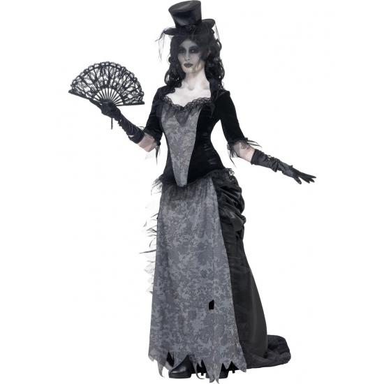 De zwarte weduwe dames kostuum