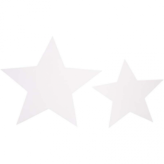 papieren witte sterren