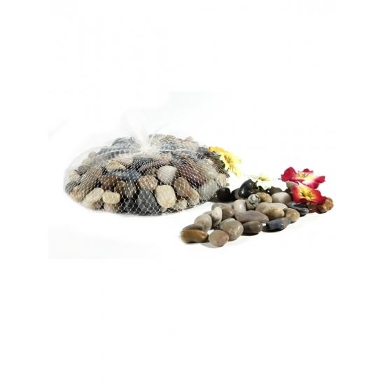 Deco steentjes in net 1 kg