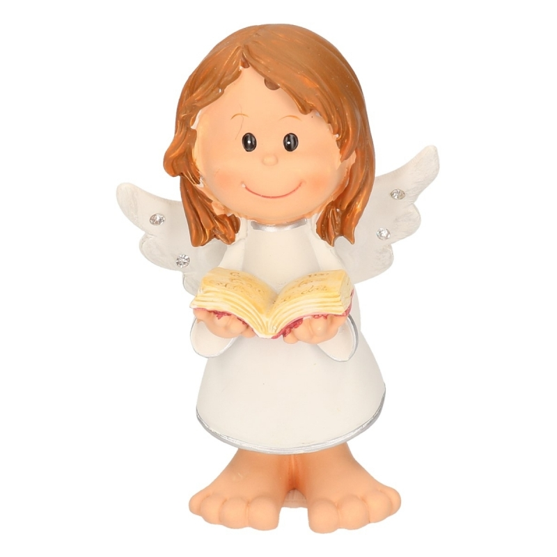 Decoratie engeltje met bijbel