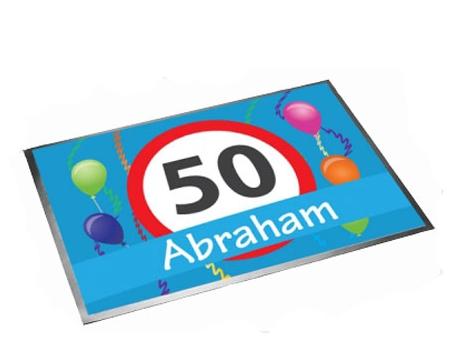 Deurmat 50 jaar Abraham