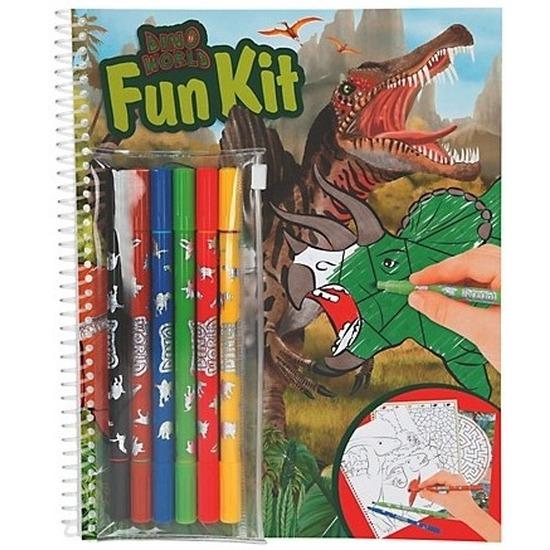 Dinosaurussen kleurplaten boek met stiften