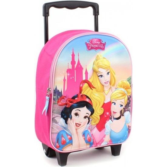 Disney prinsessen koffer op wieltjes roze 31 cm voor meisjes-kinderen