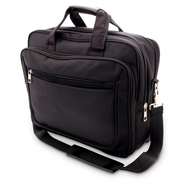 Documenten aktetas-laptoptas zwart 20 liter