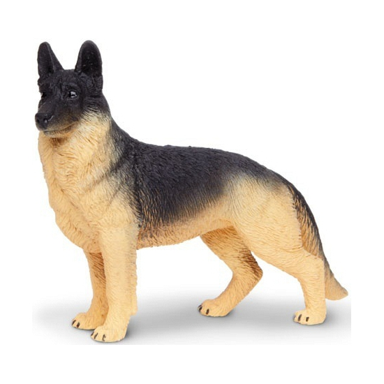 Duitse Herder van plastic 9 cm