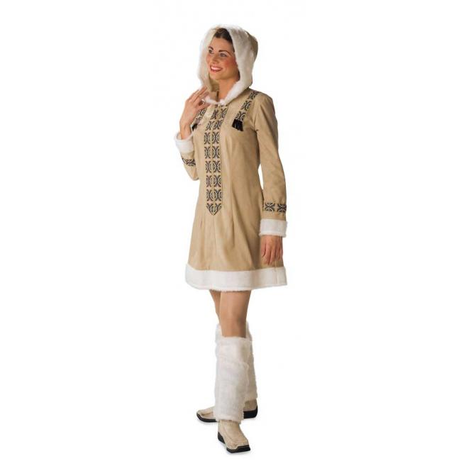 Eskimo jurk met beenwarmers