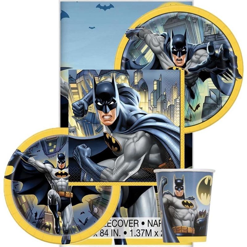 Feest Batman tafeldecoratie-tafelversiering pakket voor 8 kinderen-personen