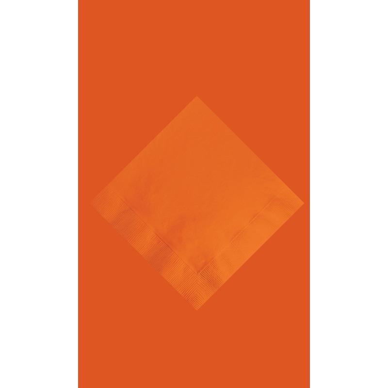 Feest decoratie pakket oranje tafelkleed en 20 servetten