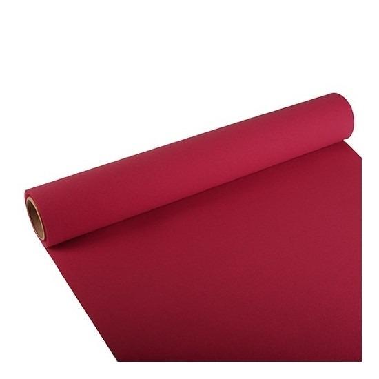 Feest-party bordeaux rode tafeldecoratie papieren tafelloper 300 x 40 cm