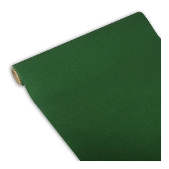 Feest-party donkergroene tafeldecoratie papieren tafelloper 300 x 40 cm