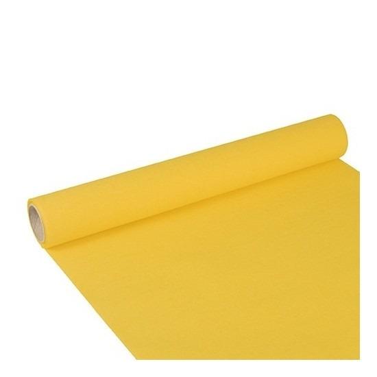 Feest-party gele tafeldecoratie papieren tafelloper 300 x 40 cm