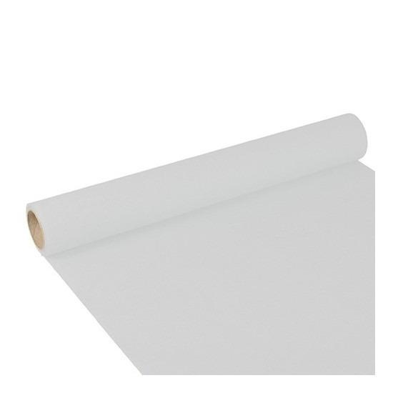 Feest-party witte tafeldecoratie papieren tafelloper 300 x 40 cm