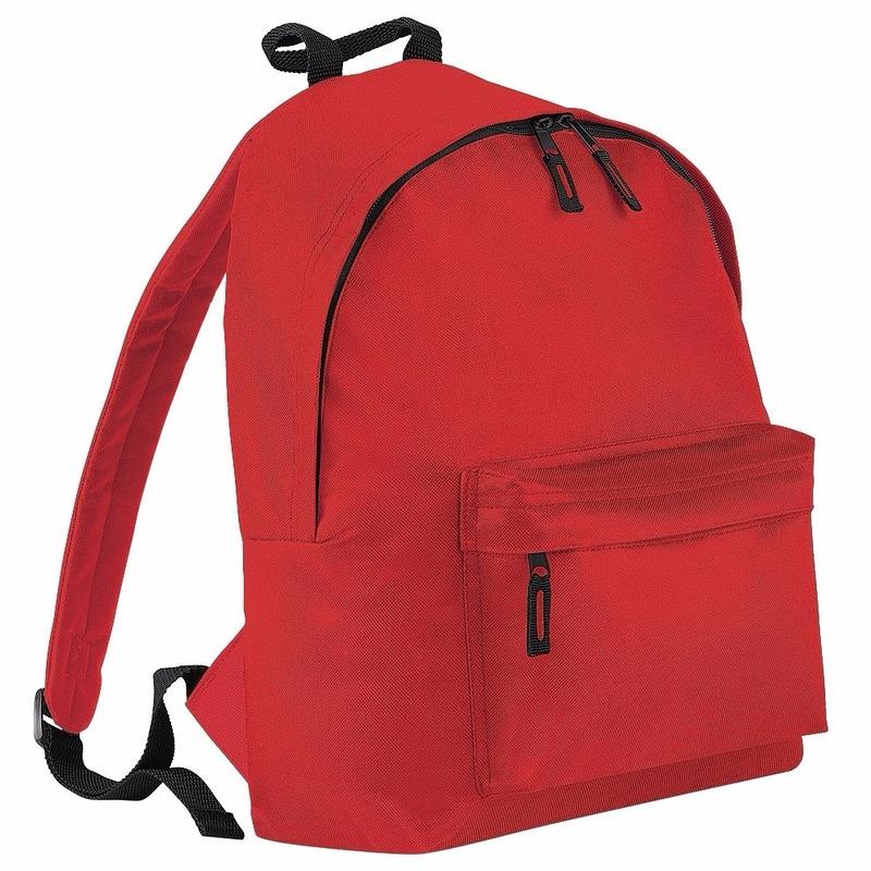 Fel rood rugtas reistas met voorvak 14 liter voor kinderen