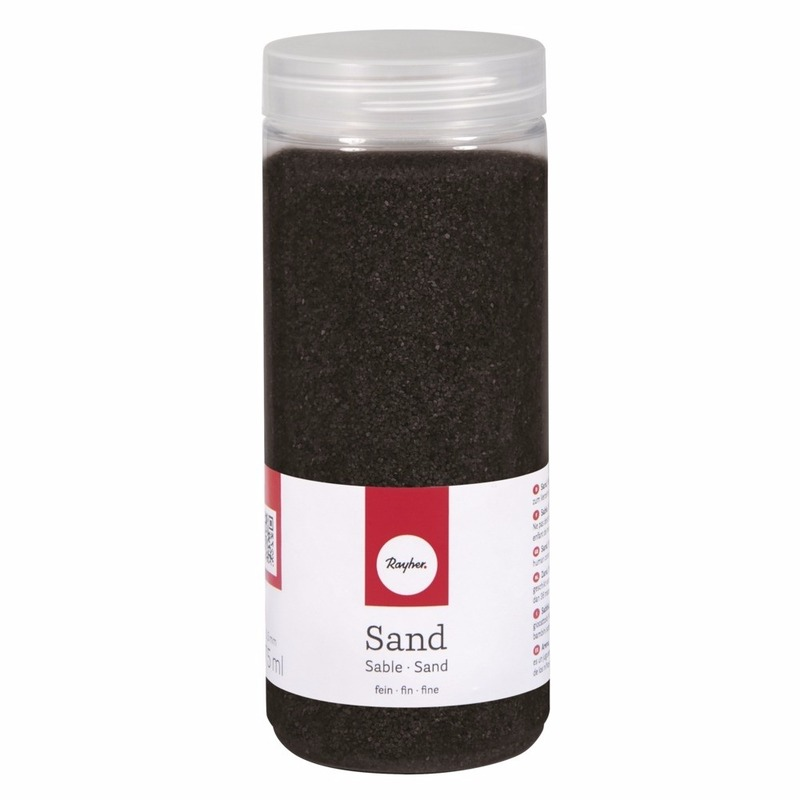 Fijne zandkorreltjes zwart