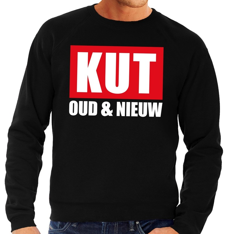Foute oud en nieuw trui/ sweater kut oud en nieuw zwart voor heren