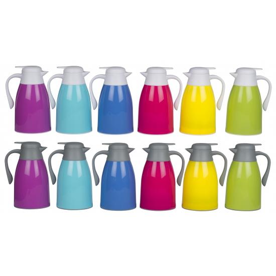 Isoleerkan 1 liter in felle kleuren. gekleurde isoleerkan met een inhoud van 1 liter. deze thermos schenkkan ...