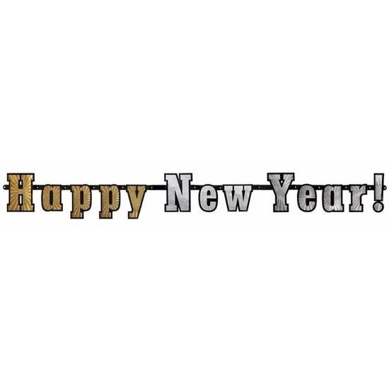 Gelukkig nieuwjaar slinger 142 cm