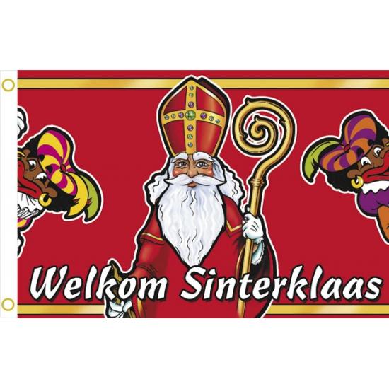 Gevelvlaggen welkom Sinterklaas