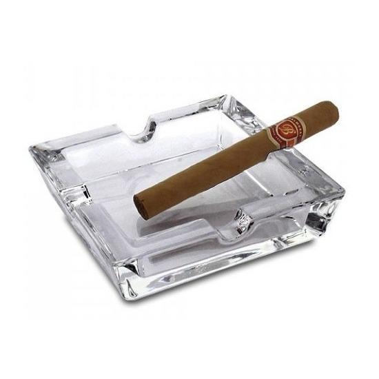 Glazen asbak voor sigaren 15 x 15 cm